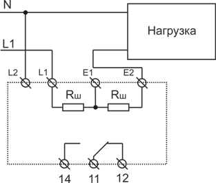 Схема подключения РКТ-1 АC исполнения при измерении тока до 1А