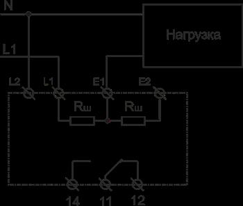 Схема подключения РКТ-1 AC исполнения при измерении тока до 5А