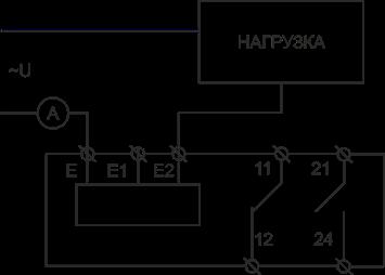 Схема подключения РКТ-40 при измерении тока до 1А