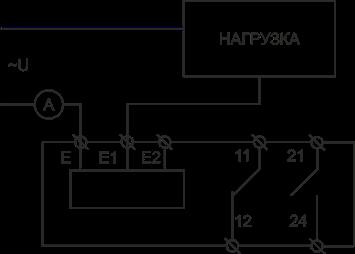 Схема подключения РКТ-40 AC исполнения при измерении тока до 5А