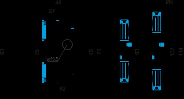 Габаритные размеры РПН-1