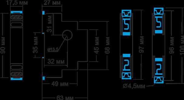 Габаритные размеры РТ-40У