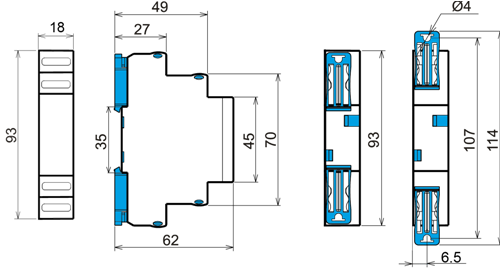 Габаритные размеры РКФ-М03-1-15