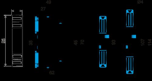 Габаритные размеры РКФ-М04-1-15