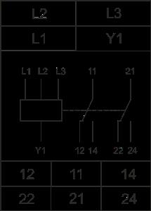 Схема подключения РКФ-М08-3-15