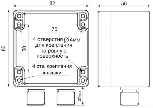 Габаритные размеры СИМ-05-1-17