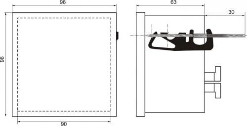 Габаритные размеры СИМ-05ч-2-09