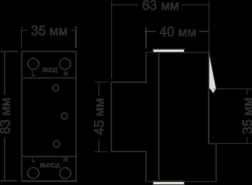 Габариты УЗМ-50М