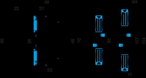Габаритные размеры РКФ-М06-12-22