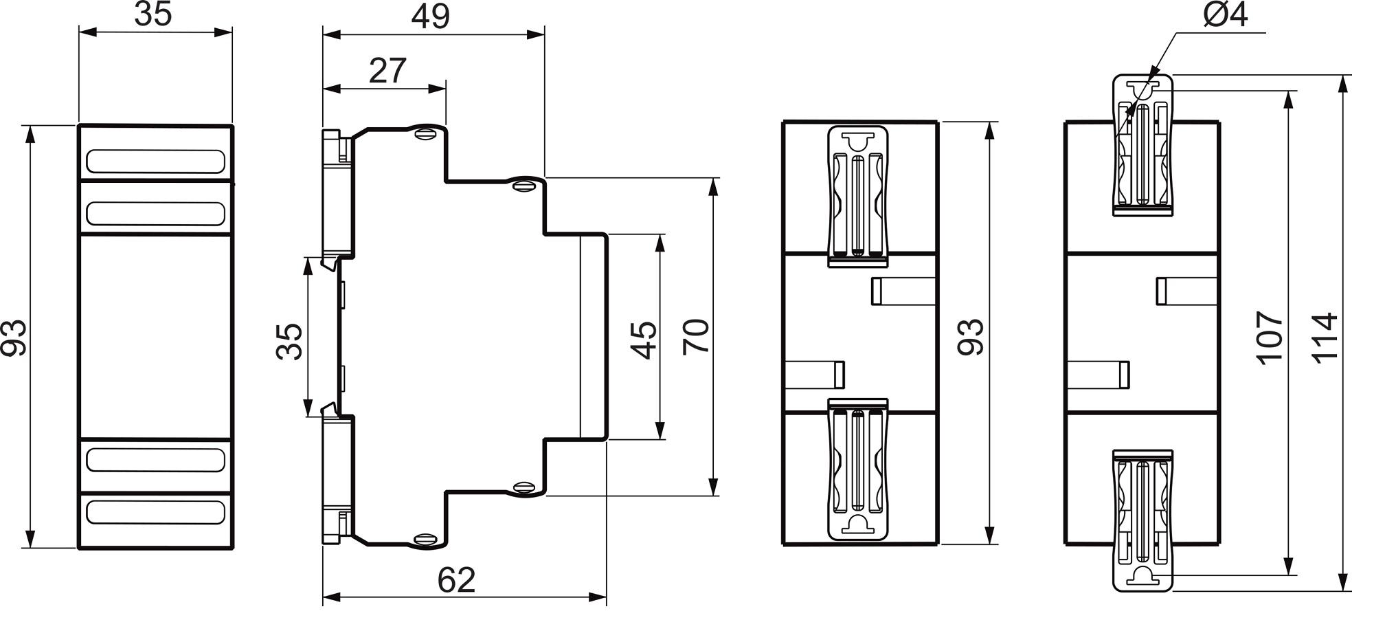 Габаритные размеры РЗН-1М