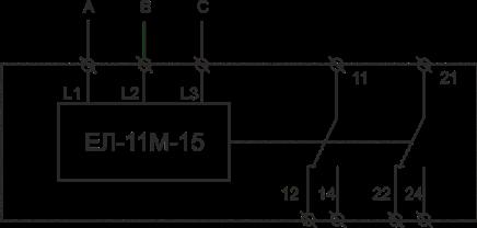 Схема подключения ЕЛ-11М-15