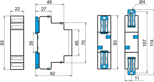 Габаритные размеры ЕЛ-13М-22