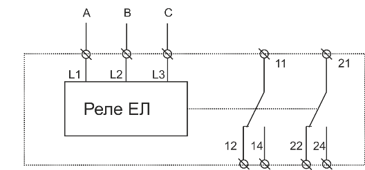 Схема подключения ЕЛ-11М-22