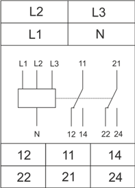 Схема подключения РКН-3-17-15