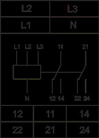 Схема подключения РКН-3-25-15