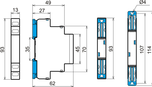Габаритные размеры РИО-1М