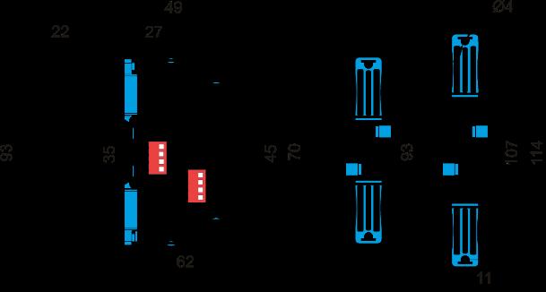 Габаритные размеры РВЦ-П2-22