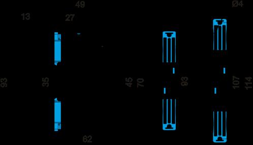 Габаритные размеры РВО-1M