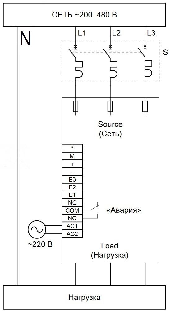 Схема подключения W5-TN
