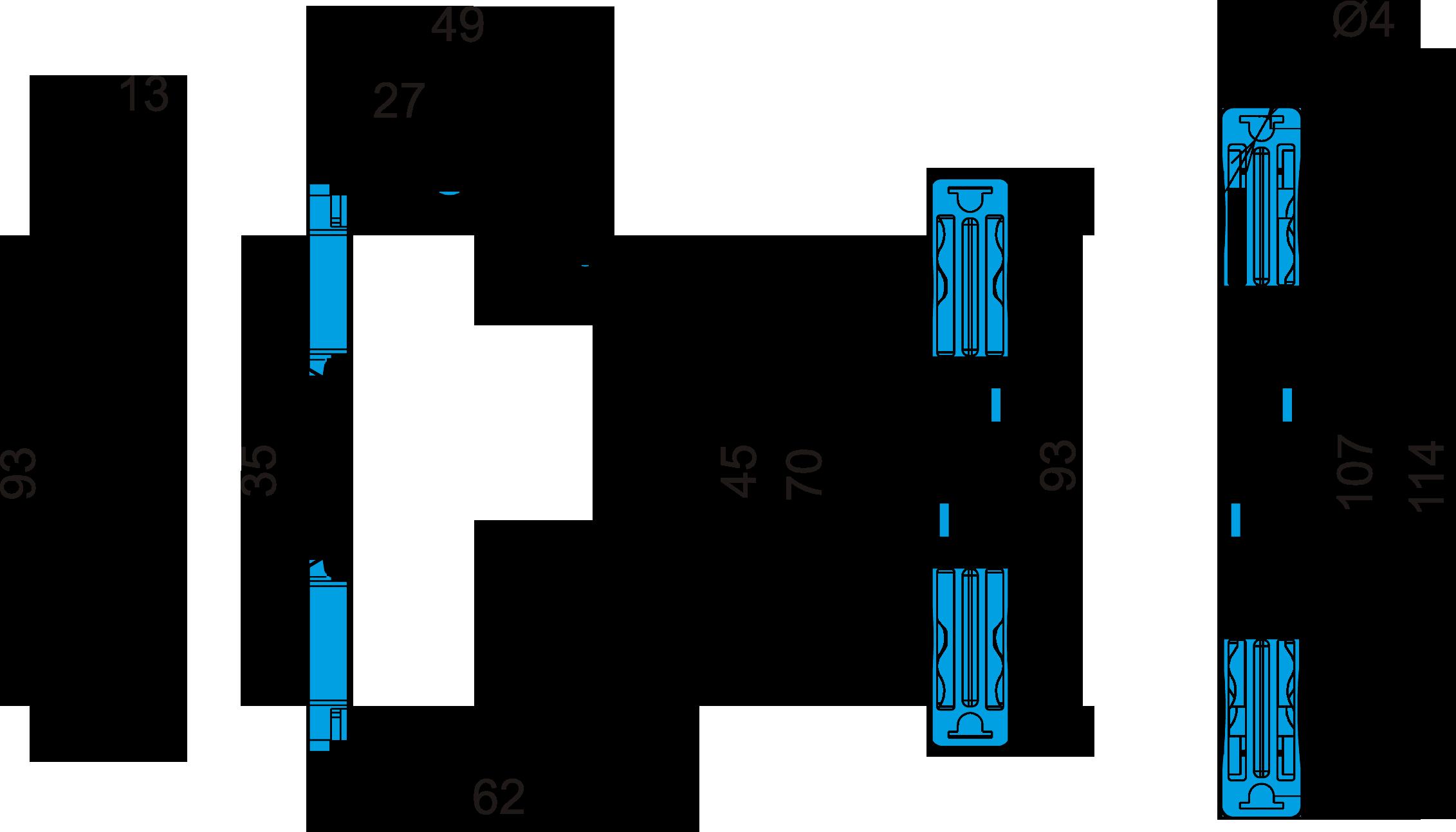 Габаритные размеры РКТ-3