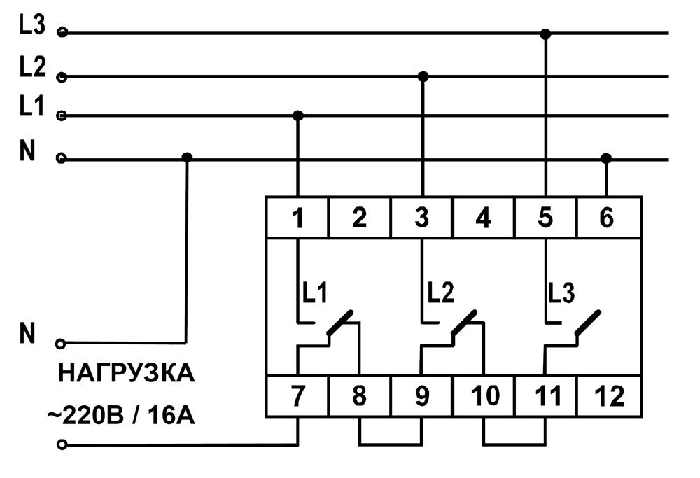 Схема подключения ПЭФ-301