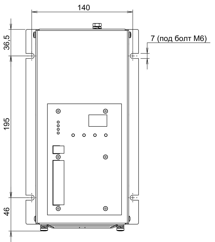 Габаритные размеры  МТК-150